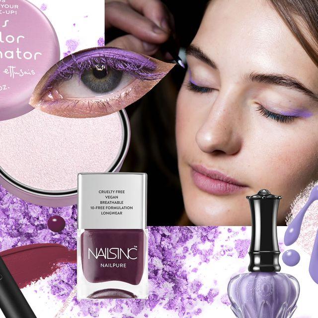 Eyebrow, Face, Violet, Purple, Eye shadow, Eyelash, Skin, Product, Cheek, Eye,