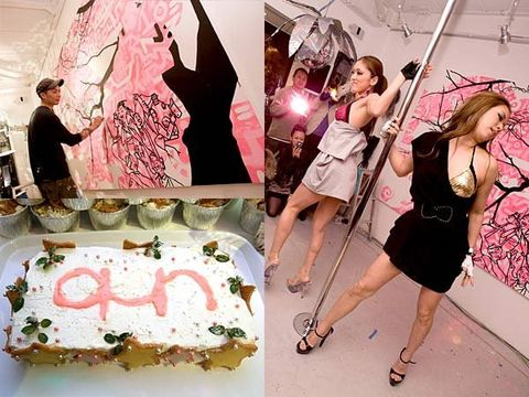 Ingredient, Pink, Cuisine, Dress, Cake, Dessert, Baked goods, Sweetness, Fashion, Cake decorating,
