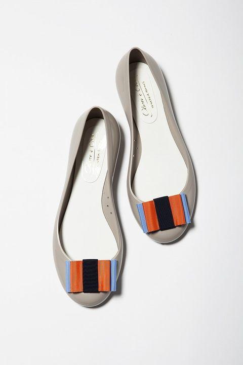 Footwear, White, Orange, Tan, Grey, Beige, Synthetic rubber, Dancing shoe, Silver, Walking shoe,
