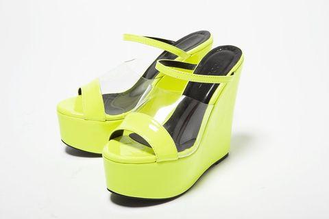 Yellow, Sandal, Beige, Plastic, Slingback, Slipper, Still life photography,