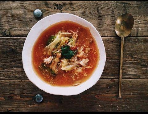 Wood, Food, Cuisine, Soup, Dish, Tableware, Ingredient, Recipe, Stew, Spoon,