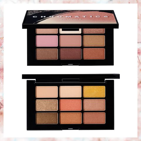 Brown, Pink, Orange, Peach, Amber, Tints and shades, Eye shadow, Rectangle, Cosmetics, Colorfulness,