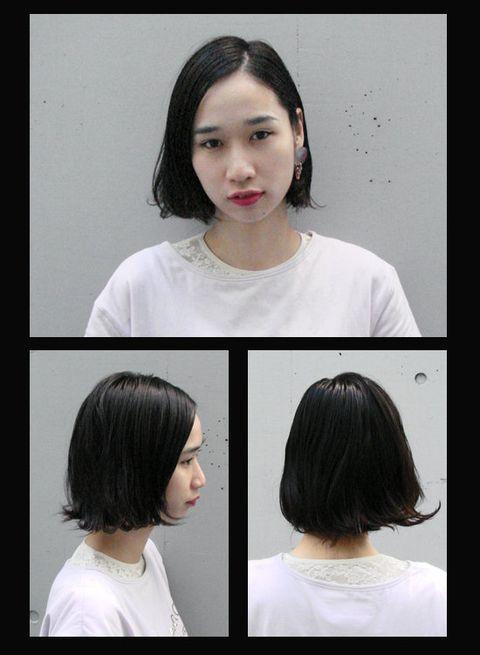 Hair, Head, Ear, Hairstyle, Shoulder, Style, Black hair, Jaw, Eyelash, Fashion,