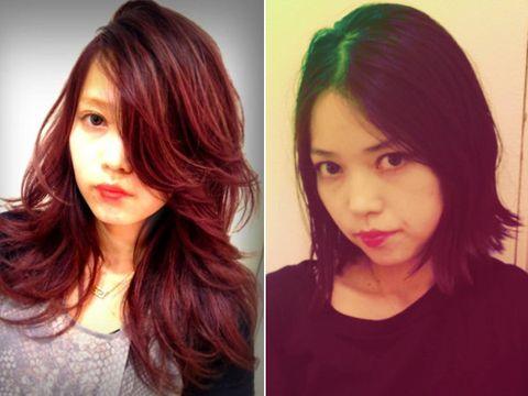 Hair, Lip, Hairstyle, Chin, Forehead, Eyebrow, Style, Step cutting, Jaw, Eyelash,