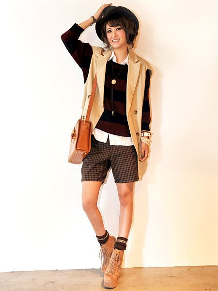 Clothing, Brown, Sleeve, Human leg, Joint, Outerwear, Bag, Collar, Coat, Style,