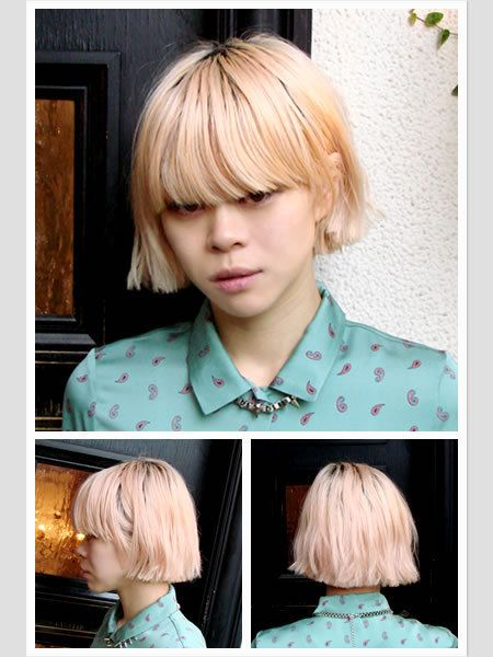 Hair, Hairstyle, Chin, Bangs, Style, Wig, Hair coloring, Blond, Step cutting, Hair care,