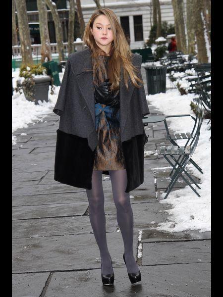 Clothing, Winter, Textile, Human leg, Outerwear, Style, Dress, Street fashion, Knee, Fashion,