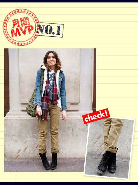 Clothing, Footwear, Brown, Sleeve, Textile, Outerwear, Boot, Khaki, Style, Street fashion,