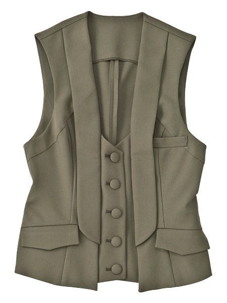 Personal protective equipment, Black, Jacket, Tan, Vest, Fashion design, Button,