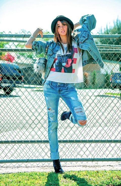 Denim, Shoe, Wire fencing, Jeans, Outerwear, Bag, Mesh, Hat, Fashion accessory, Jacket,
