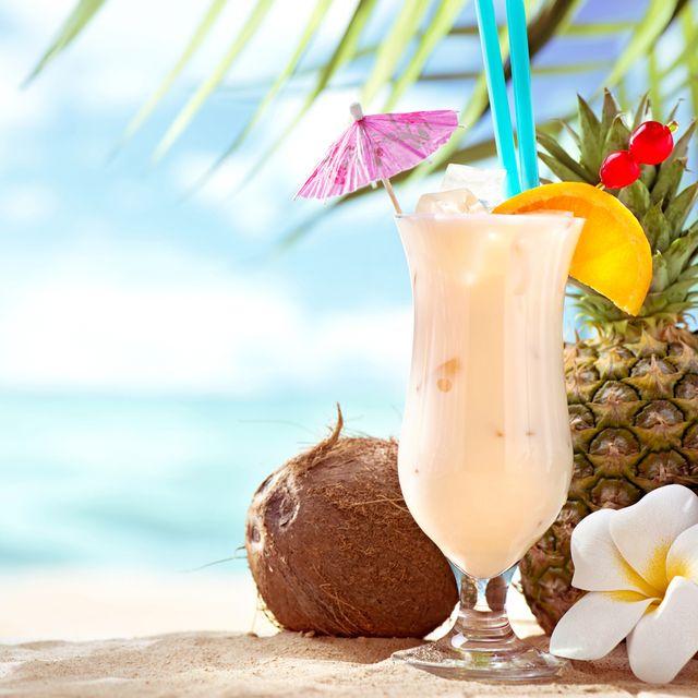 Drink, Batida, Piña colada, Cocktail garnish, Food, Milkshake, Horchata, Non-alcoholic beverage, Painkiller, Smoothie,