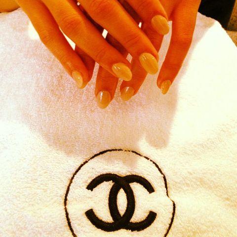 Finger, Nail, Amber, Orange, Nail care, Manicure, Nail polish,