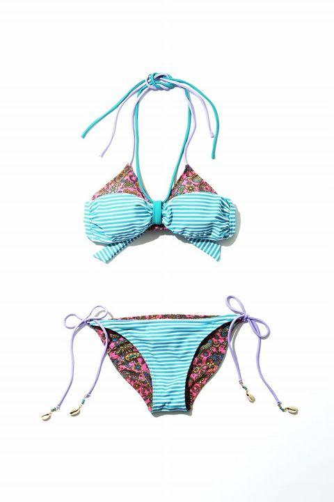 Undergarment, Magenta, Teal, Aqua, Lingerie, Turquoise, Bikini, Swimsuit bottom, Brassiere, Undergarment,
