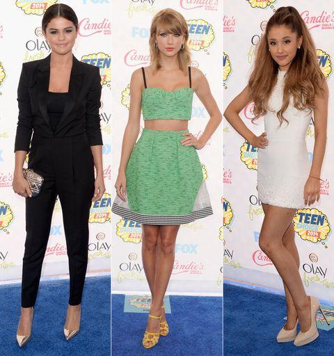 Clothing, Leg, Yellow, Shoulder, Dress, Joint, Waist, Style, Pattern, Flooring,