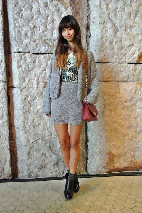 Clothing, Sleeve, Shoulder, Textile, Dress, Outerwear, Style, Street fashion, Knee, Fashion model,