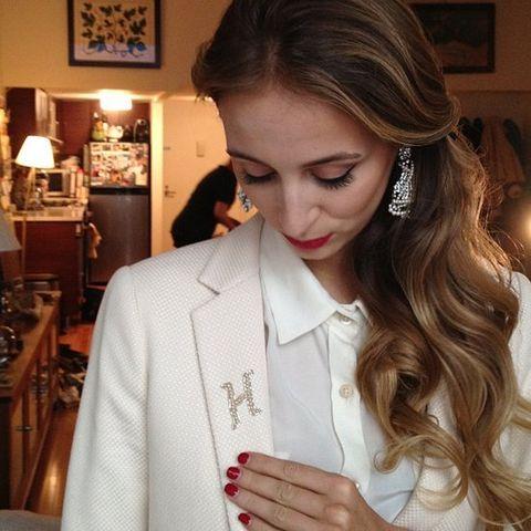 Lip, Lighting, Lampshade, Coat, Eyelash, Collar, Earrings, Lamp, Dress shirt, Beauty,
