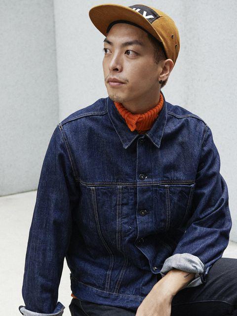 Blue, Dress shirt, Cap, Collar, Denim, Sleeve, Shirt, Textile, Jeans, Pocket,