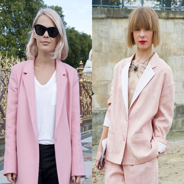 Clothing, Eyewear, Collar, Sunglasses, Outerwear, Pink, Style, Street fashion, Blazer, Fashion accessory,
