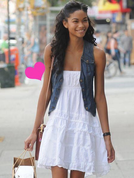 Dress, Bag, Style, Street fashion, Fashion accessory, Pattern, Fashion, One-piece garment, Day dress, Long hair,