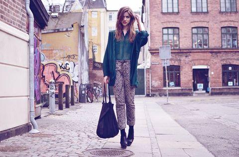 Clothing, Window, Bag, Textile, Photograph, Outerwear, Street, Fashion accessory, Style, Street fashion,