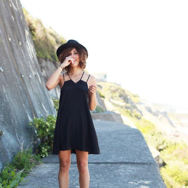 Clothing, Hat, Human leg, Summer, Sun hat, Dress, Street fashion, Day dress, One-piece garment, Fedora,