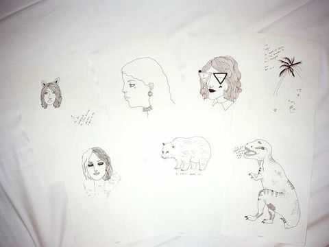 Line art, Artwork, Art, Illustration, Drawing, Visual arts, Sketch, Paper, Painting, Paper product,