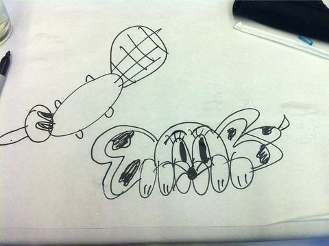 Artwork, Illustration, Automotive decal, Drawing, Line art, Kitchen utensil, Handwriting,
