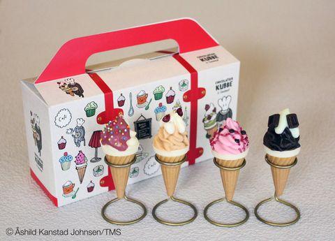 Cuisine, Food, Ingredient, Dessert, Ice cream, Frozen dessert, Ice cream cone, Dairy, Box, Gelato,