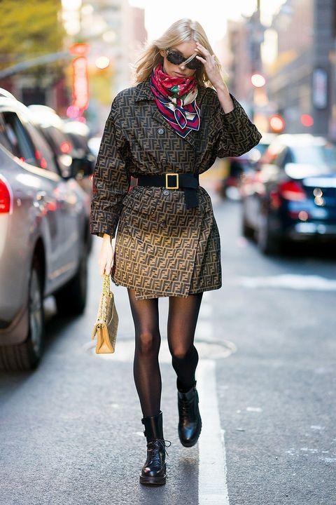 Street fashion, Clothing, Fashion, Photograph, Tights, Plaid, Footwear, Snapshot, Fur, Leg,