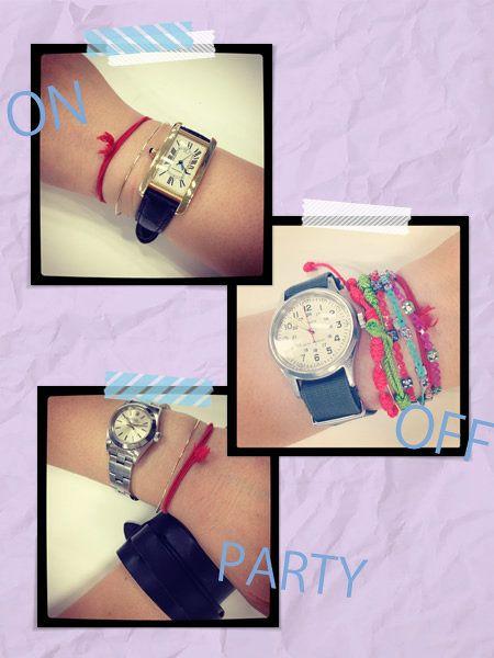 Finger, Wrist, Photograph, Watch, Fashion accessory, Pink, Pattern, Font, Fashion, Analog watch,