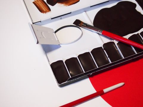 Brush, Stationery, Carmine, Office supplies, Office instrument, Paint brush, Paint, Pen, Makeup brushes, Tool,