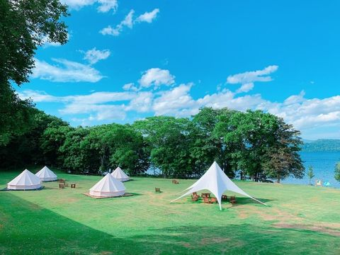 Tent, Sky, Camping, Green, Leaf, Tree, Style, Leisure, Summer, Outdoor recreation,