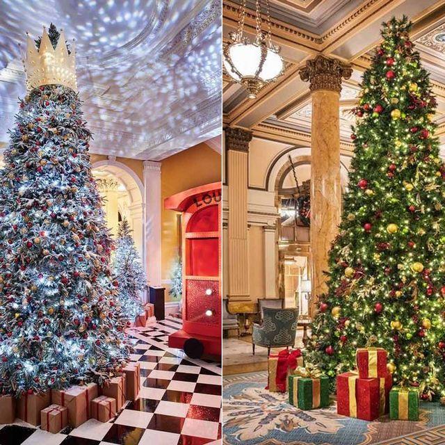 Lighting, Interior design, Christmas decoration, Room, Event, Property, Red, Christmas tree, Christmas ornament, Interior design,