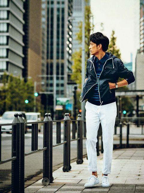 White, Photograph, Street fashion, Jeans, Snapshot, Standing, Jacket, Beauty, Fashion, Denim,