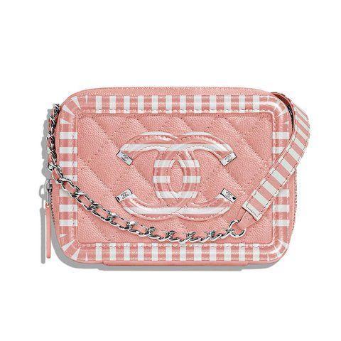 Bag, Pink, Handbag, Peach, Fashion accessory, Wristlet, Coin purse, Luggage and bags, Pattern, Beige,