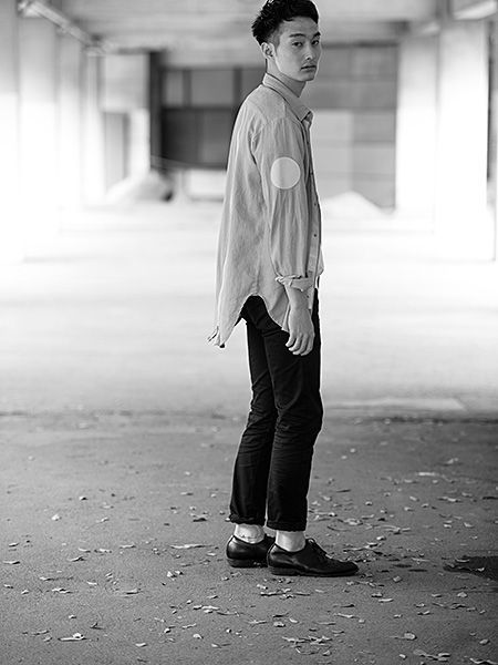 Standing, Photograph, White, Monochrome, Style, Street fashion, Monochrome photography, Black-and-white, Black, Tints and shades,