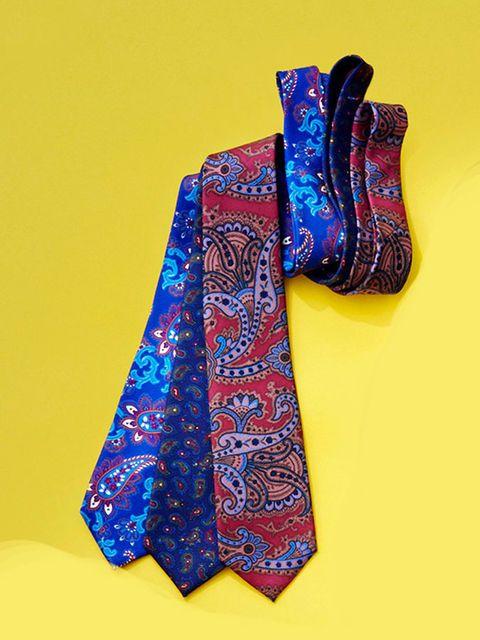 Blue, Pattern, Stole, Motif, Visual arts, Silk, Paisley, Yellow, Purple, Design,