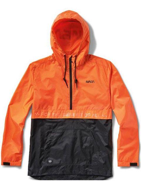 Jacket, Clothing, Outerwear, Hood, Orange, Sleeve, Raincoat, Yellow, Windbreaker, Workwear,