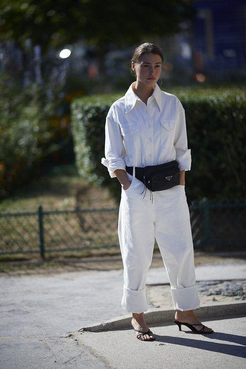 White, Clothing, Dress shirt, Street fashion, Standing, Fashion, Jeans, Shirt, Human, Sleeve,