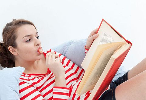 Red, Nose, Sitting, Neck, Leisure, Reading, Ear,