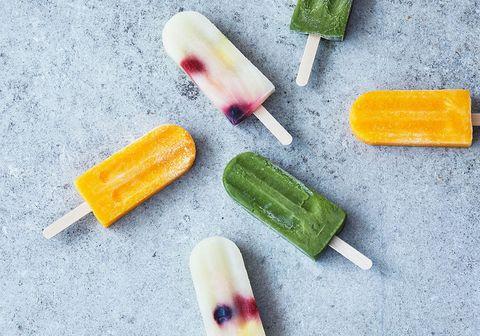 Frozen dessert, Ice pop, Food, Dessert, Ice cream bar, Confectionery, Cuisine, Food coloring,