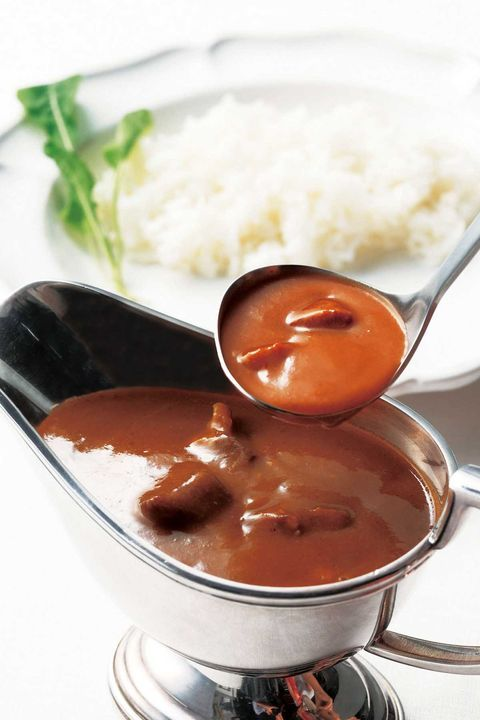 Dish, Food, Cuisine, Ingredient, Brown sauce, Gravy, Japanese curry, Curry, Steamed rice, Hayashi rice,