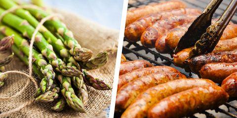 Food, Sausage, Cuisine, Ingredient, Dish, Vegetable, Produce, Plant, Natural foods, Comfort food,