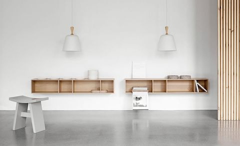 White, Furniture, Shelf, Room, Table, Floor, Wall, Interior design, Material property, Flooring,