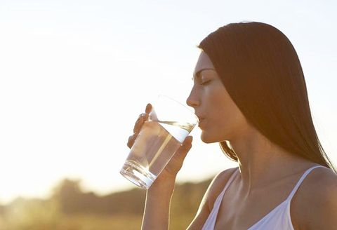 Water, Drinking, Nose, Lip, Beauty, Drinking water, Backlighting, Sunlight, Drink, Neck,