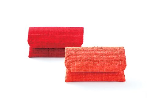 Red, Orange, Pink, Rectangle, Textile, Fashion accessory, Towel, Linens,