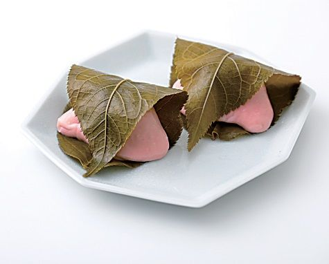 Zongzi, Pink, Leaf, Food, Cuisine, Dish, Paper, Chinese food, Origami, Paper product,