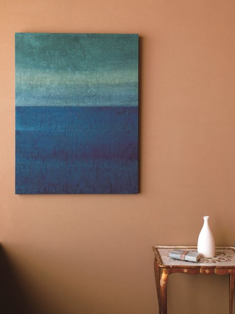 Blue, Turquoise, Aqua, Wall, Teal, Room, Yellow, Azure, Modern art, Painting,