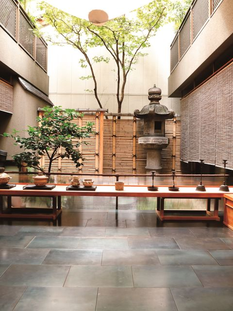 Architecture, Building, Property, Lobby, Interior design, Floor, Courtyard, Tree, Room, House,