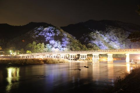 Night, Reflection, Bridge, Hill, Bank, Midnight, Mountain range, Watercourse, World, Formation,